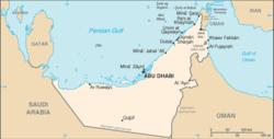 Peta Uni Emirat Arab