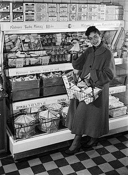 Tetra Pak Housewife with Tetra Classic 1950s