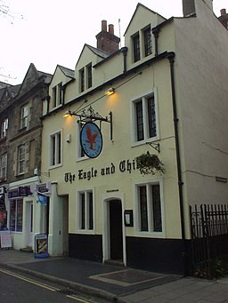 "The Eagle and Child Pub in Oxford Handlungsort bei Jill Paton Walsh ""The Late Scholar"""