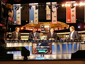 ESPN's broadcast set for the 2009 National Foo...