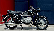 1967 BMW R60/2 with 6.5 US gallon (26 liter) tank and large dual saddle