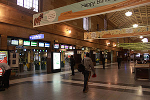 Concourse and ticket barriers at Adelaide Rail...