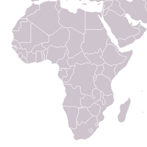 Political map of Africa. (Hover mouse to see n...