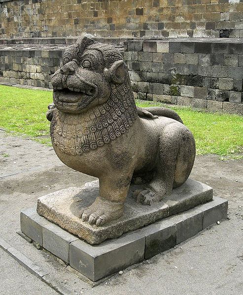 File:Borobudur Lion Guardian.jpg