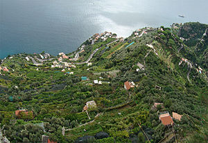 English: Amalfi Coast, Campania, Italy. Diving...