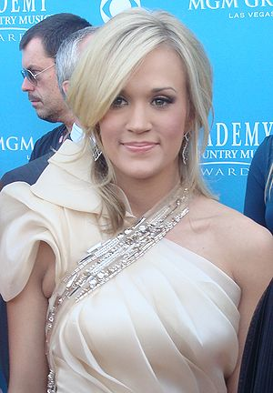 Carrie Underwood at the 45th Annual Academy of...