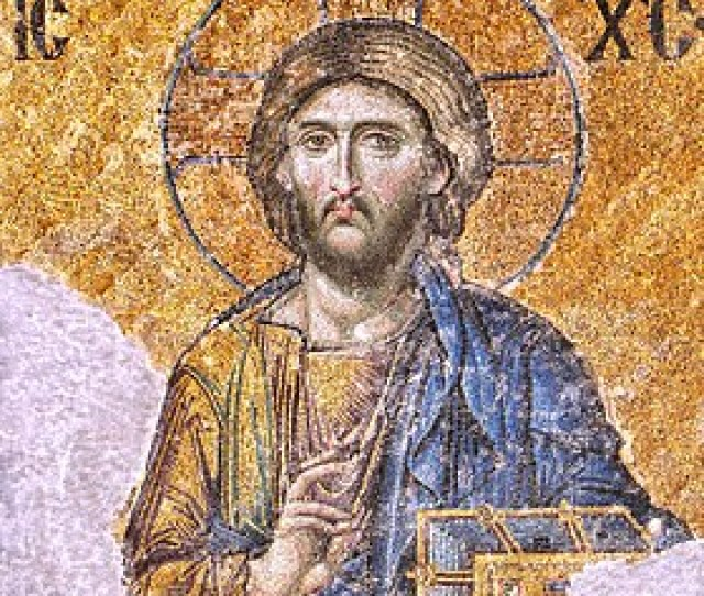 One Of The Most Famous Of The Surviving Byzantine Mosaics Of The Hagia Sophia In Constantinople The Image Of Christ Pantocrator On The Walls Of The Upper