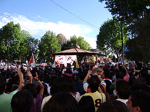 English: Welcome event to Evo Morales, Coyoacá...