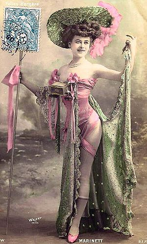 Folies Bergères costume, from postcard, first ...