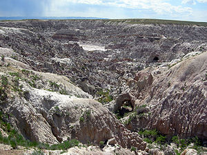 English: The badlands of Hell's Half-Acre in N...