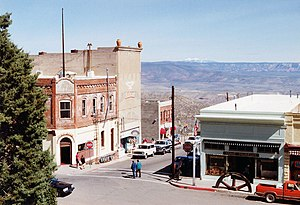 The Main Street of Jerome, Arizona. Connor Hot...