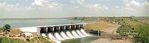 English: View of Jobat dam