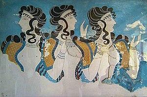 Tre donne dell'antica Creta