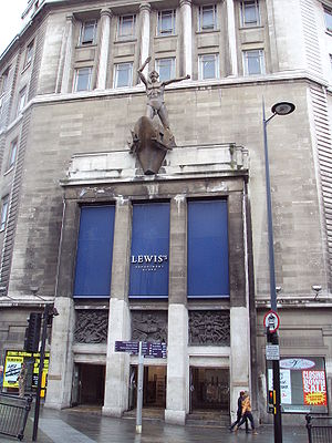 Entrance to Lewis's department store, Liverpoo...