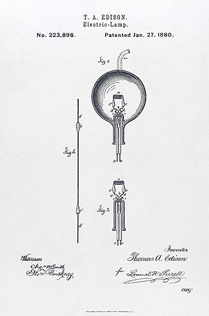 The light bulb; patent application. Photolitho...