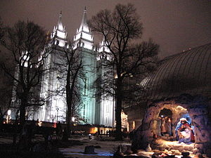 Nativity scene at Temple Square SLC