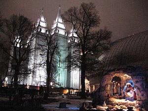 Nativity scene at Temple Square SLC