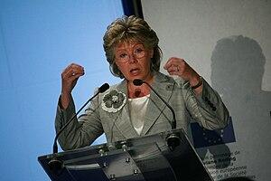 Français : Viviane Reding aux Assises du Numér...