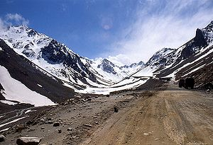 The pass of Salang, approximately 3800 meters ...