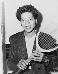 Althea Gibson in 1956.