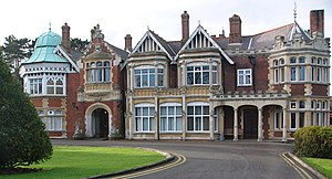 The main house at Bletchley Park. The estate w...