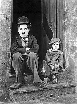 Chaplin e Jackie Coogan em