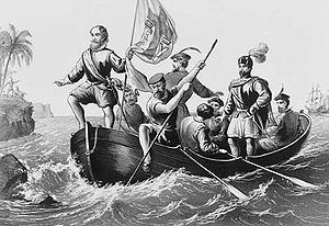 The Landing of Columbus at San Salvador, Octob...