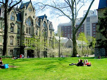 One lazy spring day, College Green