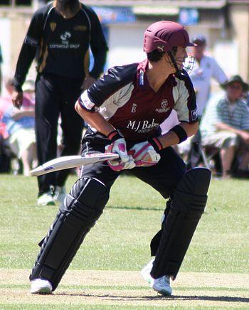 English: Craig Kieswetter batting for Somerset...