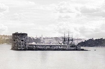 Fort Denison pre-1885. National Archives of Australia