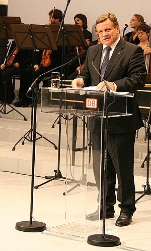 Hartmut Mehdorn, Deutsche Bahn chairman, at th...