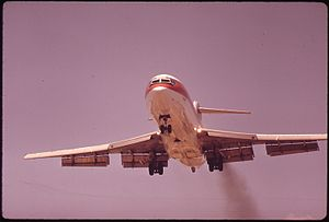 JET PLANE COMES IN FOR LANDING AT LOVE FIELD O...