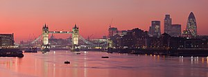 A multi segment panoramic image of the London ...