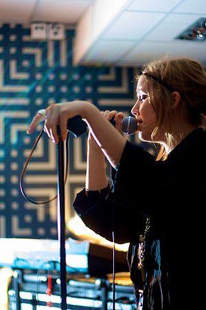 Swedish singer Lykke Li performing