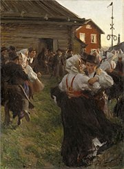 Schwedischer midsommar (Gemälde von Anders Zorn 1897)