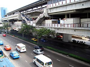 From the bridge Mo Chit skytrain station