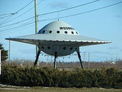 Novelty UFO in Moonbeam, Ontario, Canada