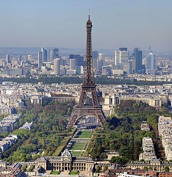 Deutsch: Paris: Eiffelturm und Marsfeld