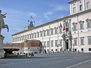 The Quirinal Palace The Pope's residence as he...