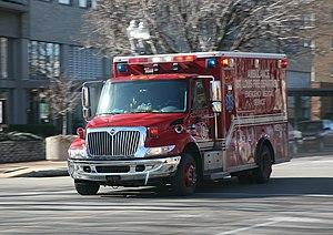 St. Louis fire department ambulance. Missouri,...