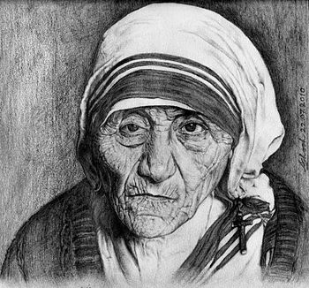 English: This is the portrait of Mother Teresa