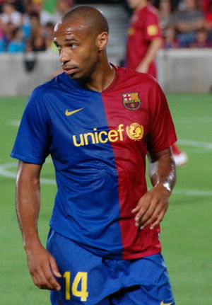 A photo of Thierry Henry, taken during Joan Ga...