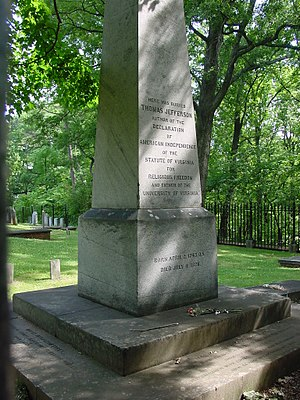 This photograph is of the grave site of Thomas...