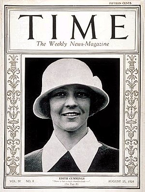 Edith Cummings was the first woman athlete to ...