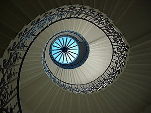 English: The Tulip Stairs and lantern at the Q...
