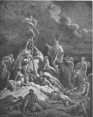 English: The Bronze Serpent (Num. 21:4-9) Русс...