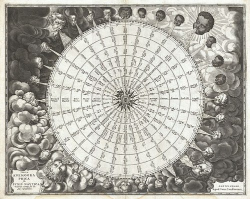 1650 Jansson Wind Rose, Anemographic Chart, or Map of the Winds - Geographicus - Anemographica-jannson-1650