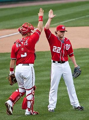 Drew Storen (right) and Wilson Ramos