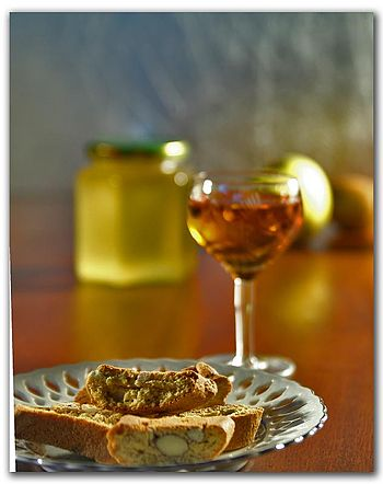 The Italian wine Vin Santo with its traditiona...