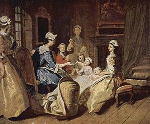 Pamela teaching her children (1743–45)